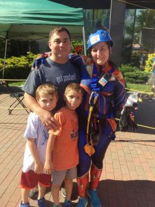 Dr. Johanna and Family At Over The Edge 2019